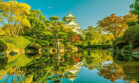 Osaka, Japan, Architecture, Japanese, City, Asia