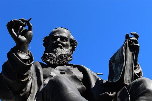 Nuremberg, Hans Sachs, Statue, Figure, Sculpture, Art