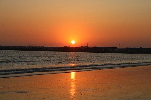 Sea, Beach, Valdelagrana, The Port Of Santa Maria