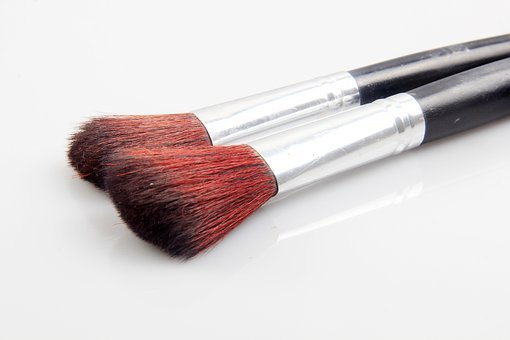 Beauty, Brush, Cosmetic, Makeup, Background, Face