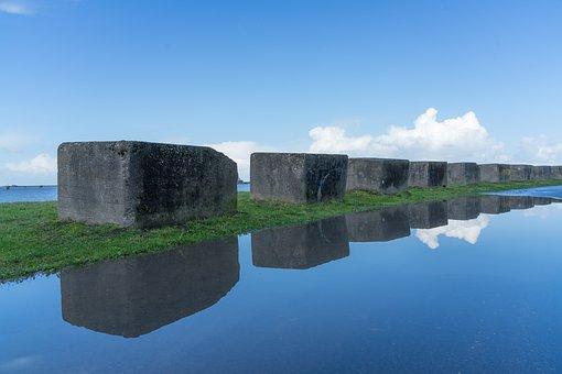 Background, Mirroring, Water, Clouds, Lake, Blue, Mood