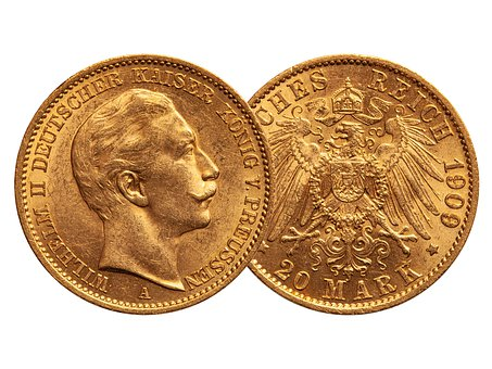 Gold, Gold Coin, Coin, Money, Crown, Adler, Prussia
