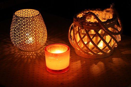 Candles, Candlelight, Evening, Romance, Decoration