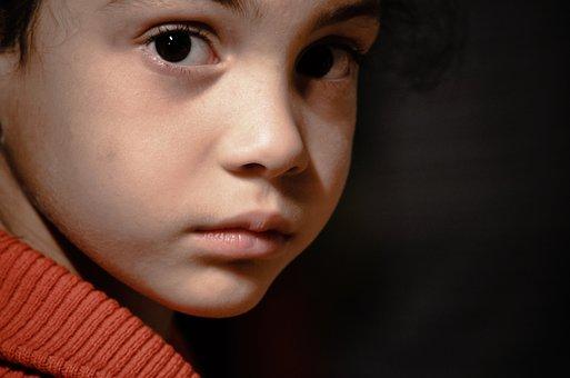 Kid, Child, Portrait, Children Eyes, Eyes, Black Eyes