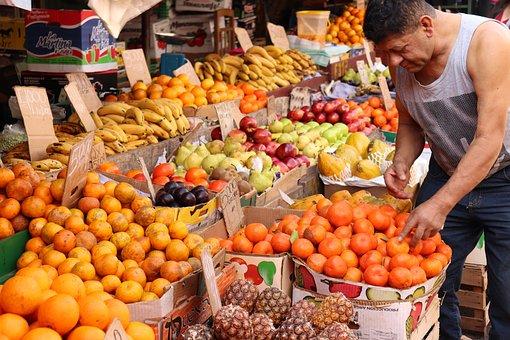Fruit, Market, Man, Food, Fruits, Healthy, Fresh, Sweet