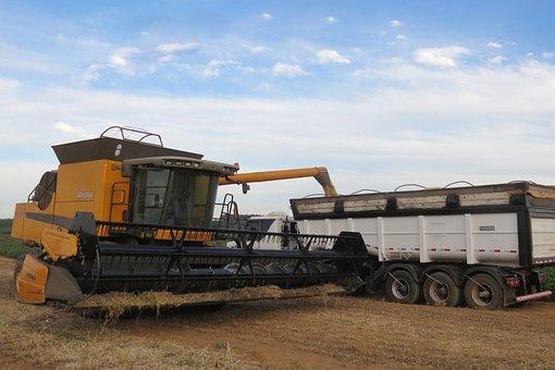 Harvester, A Machine For Agricultural, Harvest
