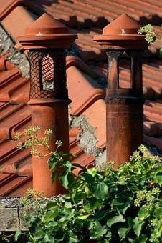 Chimneys, Roof, House, Brick, Fireplace, Smoke, Heat