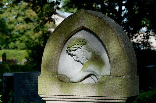 Grave, Tombstone, Jesus, Figure, Art, Steinmetz