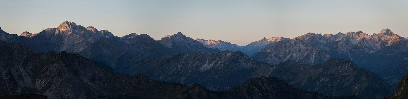 Morgenrot, Mountains, Landscape, Nature, Sunrise