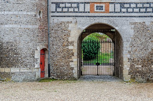Castle, Door, Tower, Pierre, Detail, Old, Metal, Entry