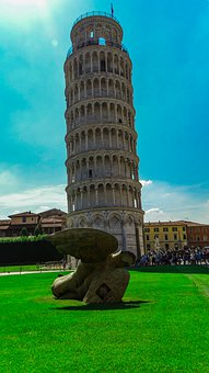 Pisa, Italy, Tower, The Curve, Monument, Architecture