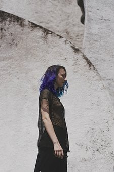 Girl, Blue Hair, Nature, Art, Model, People, Beauty