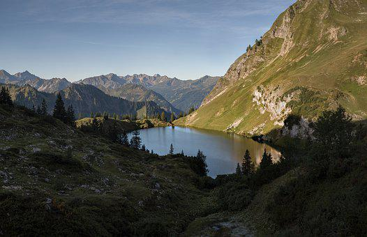 Lake, Alpine, Mountains, Landscape, Nature, Water