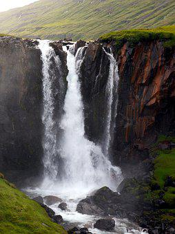 Waterfall, Nature, Country, Water, Iceland