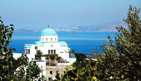 Greece, Kos, Church, Orthodox, Sea, Summer, Travel