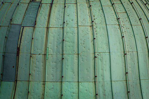 Patina, Metal, Copper, Roof, Round, Weathered, Old