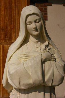 Statue, Woman, Carmel, Lisieux, Sainte