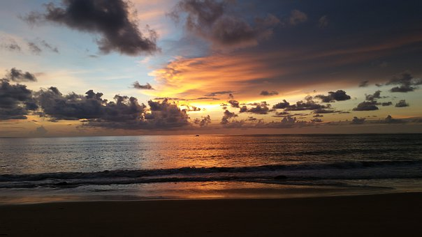 Sunset, Thailand, Sunrise, Water, Sky, Evening, Sun