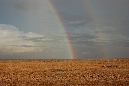 South Dakota, Mid-west, Rainbow, Grassland, Sky