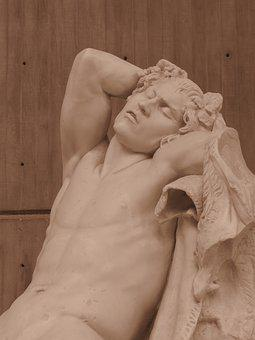 Faun, Sculpture, Stone, Old, Historical, Statue
