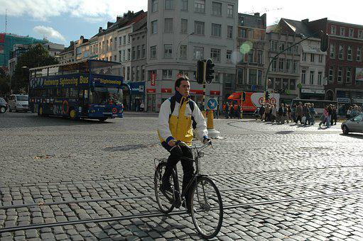 Bicycle, Avenue, City, Road, Open, Street, Europe