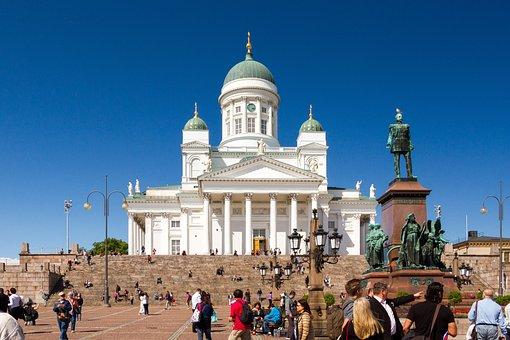 Helsinki, Dom, Church, Finland, Summer