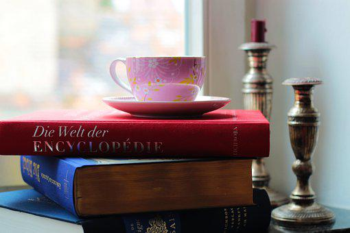 Books, Literature, Teacup, Cup, Candle Holders, Read