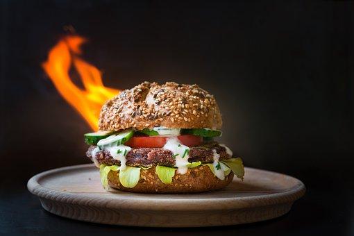 Burger, Eat, Sharp, Vegetarian, Vegan, Healthy