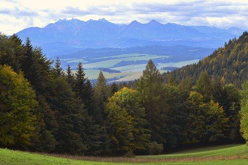 Mountains, Autumn, Blue, Warm, Fall, Nature, Landscape