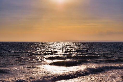 Sea, Waves, Ocean, Water, Surf, Sunset Colors, Sky