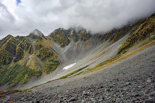 Landscape, Mountain, Yellow Leaves, 涸沢 圏谷, Climbers