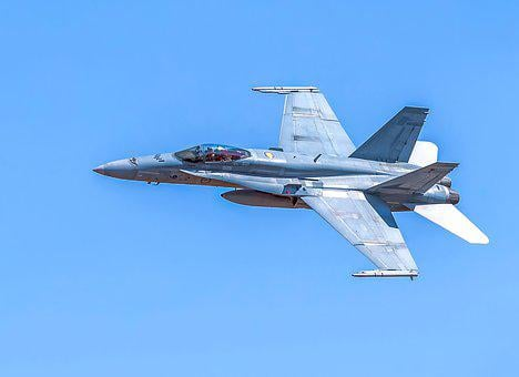F A-18a Hornet, Fighter Aircraft, Military, Aircraft