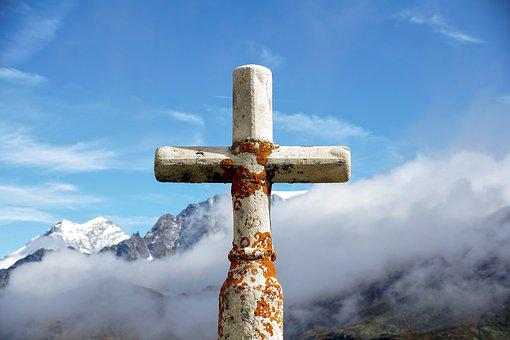 Summit Cross, Mountains, Alpine, Landscape, Panorama