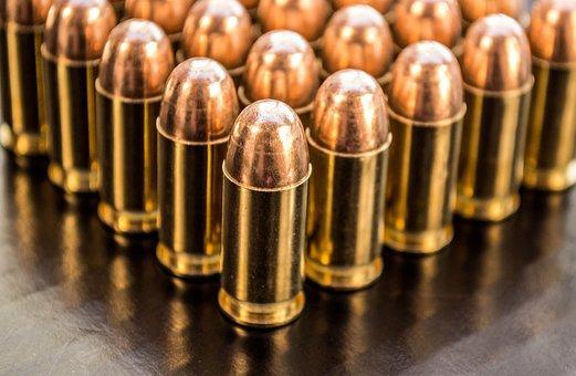 Bullets, Brass 9mm, Shiny, Brass, End Up, Ammo, Bullet