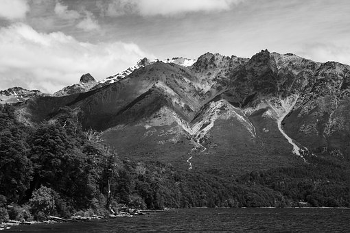 Black And White, Mountains, Holiday, Artistic