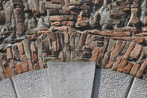 Wall Wall, Lake Dusia, Brick, Damme, Stone, Block