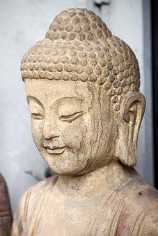 Sculpture, Buddha, Stone, Buddhism, Religion
