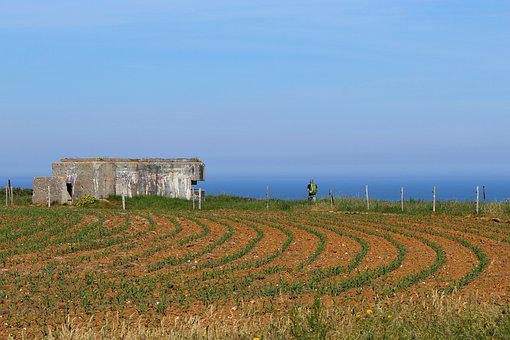 France, Normandy, Coast Of The Sea, War, Bunker