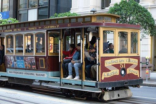 Cable Car, San Francisco, California, City, Usa