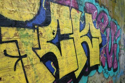 Grafitti, Art, Wall, Spray, Color, Vintage, Sprayer