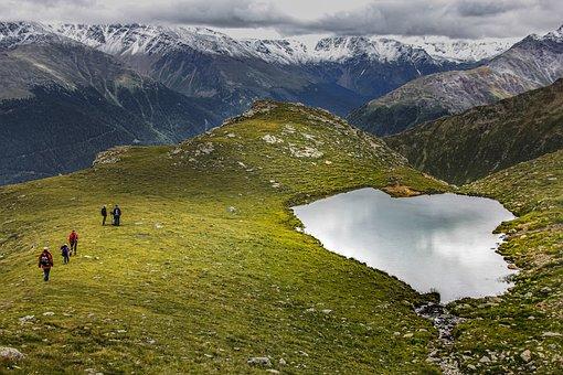 Piz Chavalatsch, Italy, Bergsee, Hike, Mountain Hike