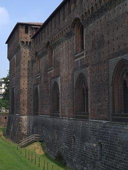 Milan, Italy, Palace, Duke, Palace Of The Duke, Tower