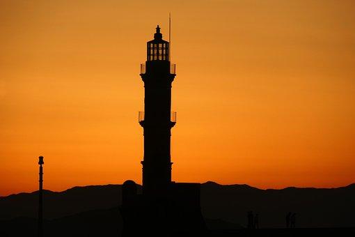Sunset, Twilight, Evening, Night, Sea, The Sun, Lantern