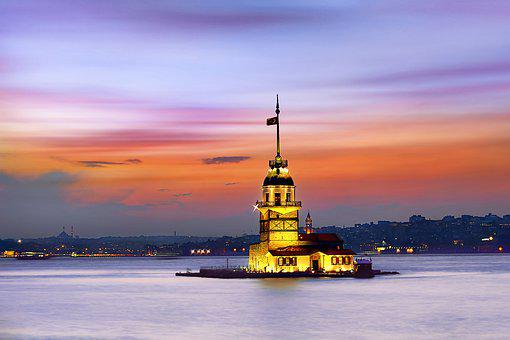 Night, Long Exposure, Istanbul, Turkey, Nightscape