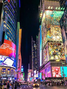 New York, Time, Broadway, Ny, Manhattan, City, America