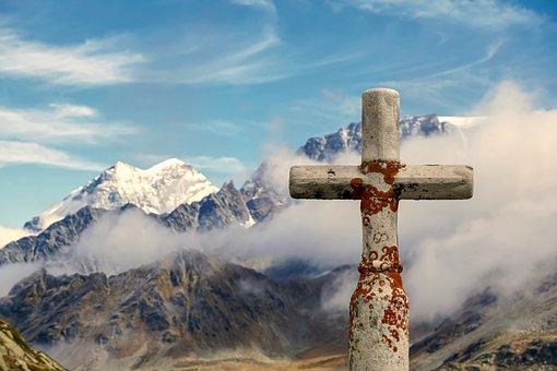 Summit Cross, Mountains, Alpine, Landscape, Panorama