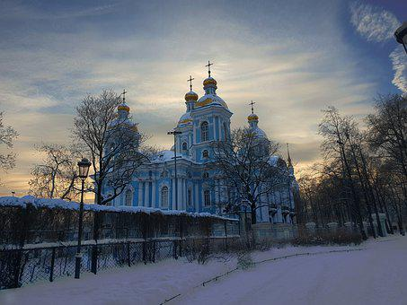 St, Petersburg, Church, Architecture, Religious