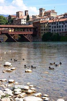 Bridge On The River Brenta, Bassano Del Grappa, River