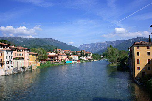 River, Bassano Del Grappa, Mountain, Alpini, Italy