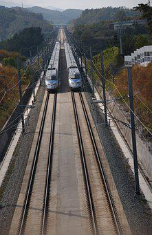 Train, Korea, Ktx, The Railroad Line, Side, Travel
